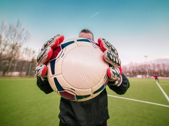 A goalkeeper used as a metaphor for business goals